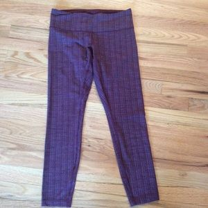 Lululemon purple and blue ankle leggings